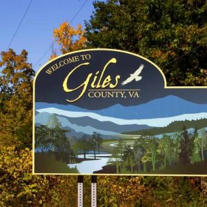 Giles County Welcome Sign