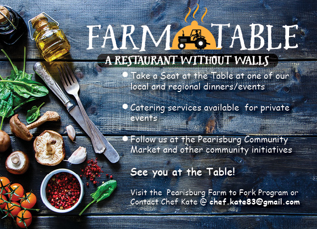 Farm table postcard