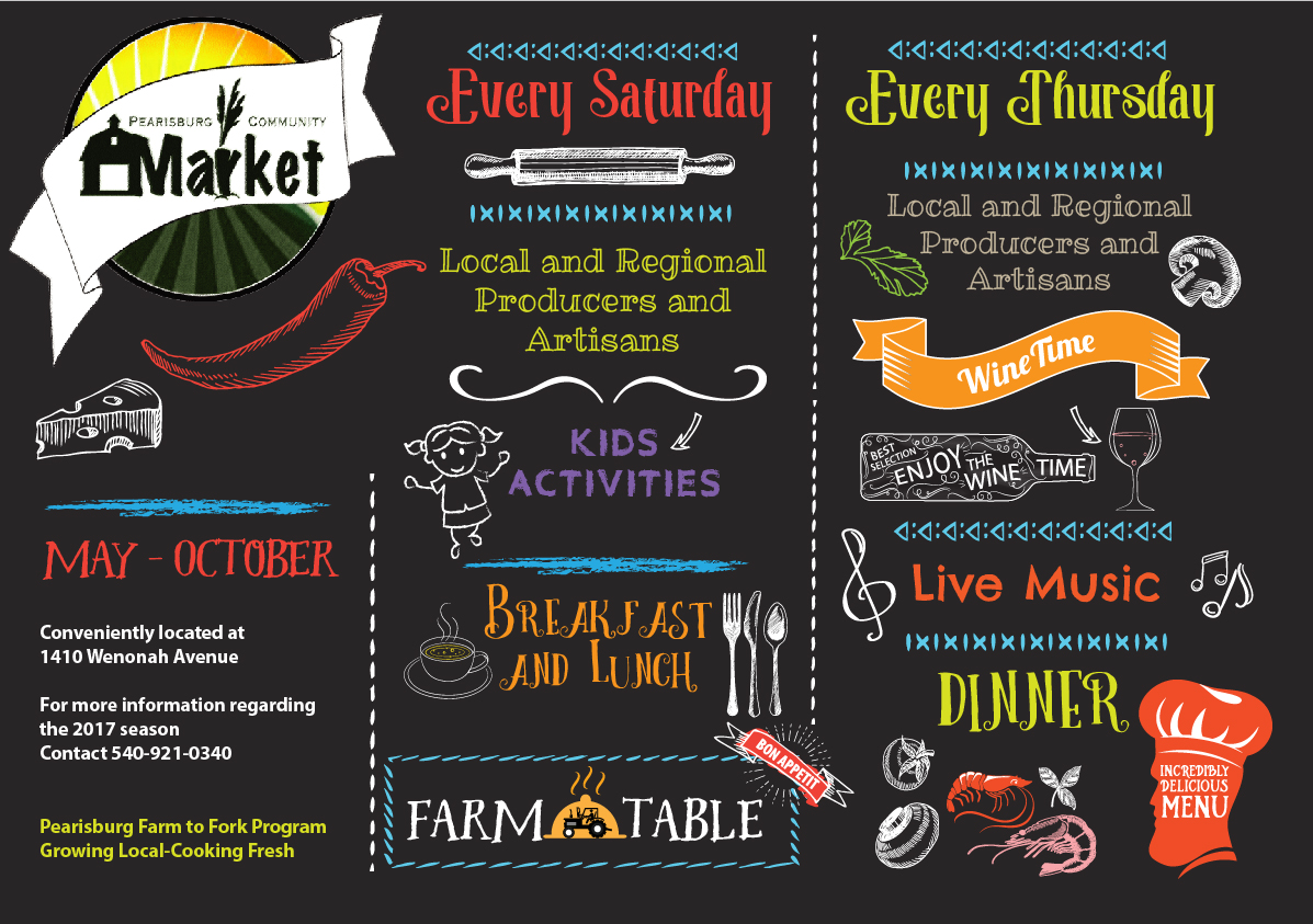 Farm table menu design