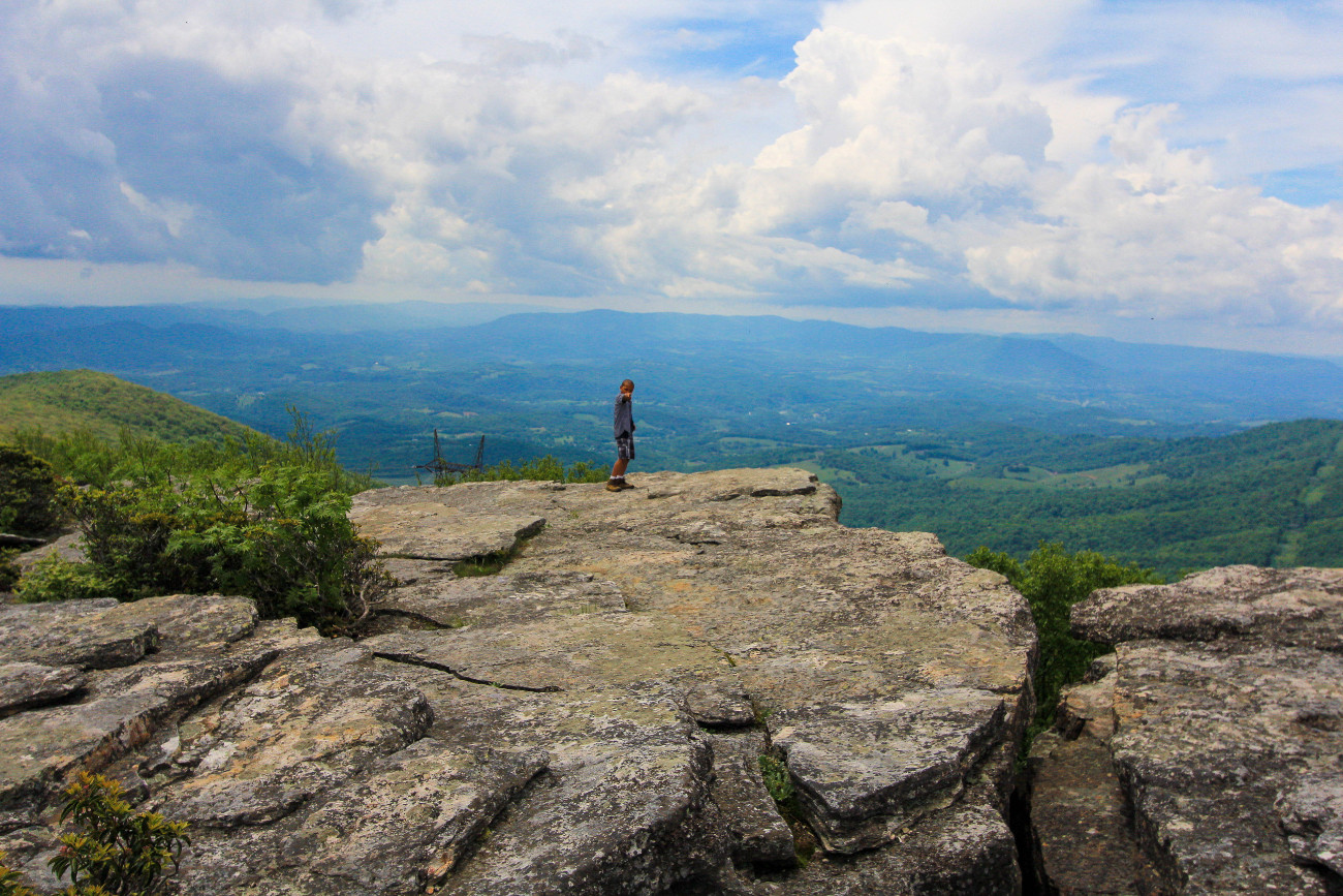 Stand on the Edge of Bald Knob
